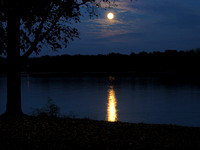 Moonrise over Hoover Reservoir (Red Bank Harbor), Westerville, Ohio