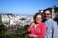 San Francisco from the top of Lombard Street.