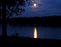 Moonrise Over Hoover, Westerville, Ohio
