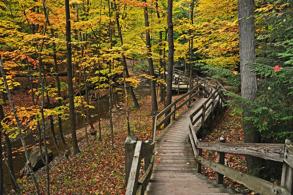 Cuyahoga National Park, Boardwalk to Bridal Veil Falls